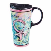 Evergreen Enterprises 85305 Travel Mug Hope Courage Strength - Latte Cup