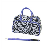 World Traveller 8114-ZBR-LAV Deluxe Shoulder Travel Bag Lavender Zebra