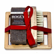 Bogue Milk Soap - Grease Monkey Soap Gift Set- Three Aggrigate Soap to Exfoliate, Remove Grease & Smells with Essential Oils to Heal Cuts & Abrasions. Nail Scrubber and Tray Included