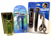 Solo. Polo) for Men with Hair & Beard Trimmer & 2 Six Blade Razor Set