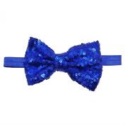 Rarelove Baby Girls Headband Blue Bowknot Sequin Hair Bands Accessories
