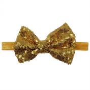 Rarelove Baby Girls Headband Orange Bowknot Sequin Hair Bands Accessories