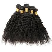 BHF Hair Grade 7a Virgin Brazilian Curly Human Hair 3 Bundles (100ml/bundle) 8-80cm Natural Black Colour Full Head