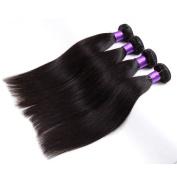 BHF Hair Brazilian Straight Hair Bundles Remy Human Hair Extensions Natural Black Hair Colour Full Head