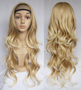 Liaohan® Long Wavy Ombre Wig Brown Mixed Blonde Wig Synthetic Hair Wigs for Women 27T613