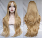 Liaohan® Fashion Long Wavy Brown Mixed Blonde Wig Synthetic Natural Wavy Hair Wigs for Women 27M613