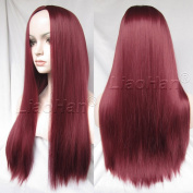 Liaohan® 2015 New Burgundy Wig Fall 60cm Straight Long Wine Red Wig Hair Synthetic Hair Wigs for Women