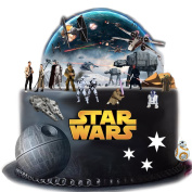 Stand Up Star Wars Cake Scene Premium Edible Wafer Paper Cake Toppers - Easy to Use
