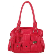 Ritz Enterprises JM6691-RD Chic Satchel With Belt Accent - Red