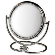 Jerdon Style MC129C 14cm . 5X-1X Folding Travel Mirror Chrome Includes Black Travel Pouch