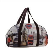 NorthLight 50cm . Decorative Vintage-Style London Theme Travel Bag & Purse