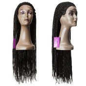 Queen Star Kanekalon Senegal Twist Braided Lace Wig Fully Hand Braided Lace Front Wig