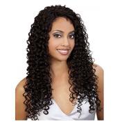 Nicetobuy Hair 50cm Long Glueless Kinky Curly Brazilian Virgin Hair Half-hand Tied Lace Front Wigs for Women