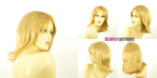 univers perruque Mid Length Wig For Women Light Blond Golden Ref