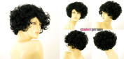 univers perruque Short Wig For Women Black Curly Ref Marie-lou 1b