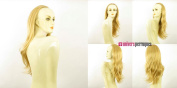 WIG UNIVERS Half Wig Hairpiece Extensions In Light Golden Blonde Straight Hair Long 24.4 Ref 33cm Lg26
