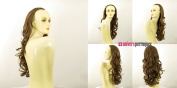 WIG UNIVERS Half Wig Hairpiece Extensions In Light Brown Golden Wavy Hair Long 25.6 Ref 15 In 12