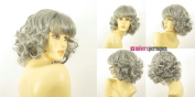 univers perruque Mid Length Wig For Women Grey Curly Ref