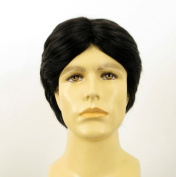 univers perruque Natural Hair Short Wig For Man Black Ref Thibault 1b