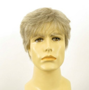 univers perruque Natural Hair Short Wig For Man White And Grey Ref James 51