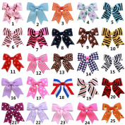 Tnian girls grosgrain ribbon hair bow 6.9cm alligator clips boutique barrettes hair pin pack of 25