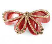 Chryse Butterfly Austrian Rhinestone Crystal Hair Clamp Clip Barrette C12011ambe