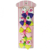 Doodlebellies Colourful Gross Grain Hair Clip for Girls - Colourful Pattern Hair Clip Set Unique Design for Girls (12pc