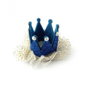 Kingfansion Hot Sale Baby Girl Crown Pearl Princess Hair Clip Party Accessories