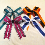 Large Bow with Sequin, Batch L7, Set of 4, Made in the USA