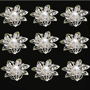 Yantu 24pcs Clear Crystal Flower Swirl Hair Twists Coils Spirals Hair Pin Clip Accessories