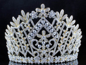 Janefashions Daisy Austrian Crystal Rhinestone Tiara Crown Bridal Prom Pageant T1861g Gold