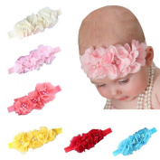 Ularmo 6PCS Baby Girls Elastic Headbands Photography Prop Headwrap