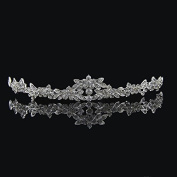 FAJ Elegant Bridal Wedding Prom Rhinestone Austrian Crystal Tiara - Money Back Guaranteed - Great Quality by FAJ