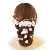 Geoot 8pcs Handmade Flowers for Wedding Accessory Headwear Hair Pin