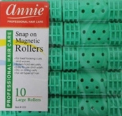 (2packs)annie Snap-on Magnetic Rollers Large 10 PCS #1222