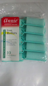 (2packs)annie 2.5cm Large Foam Hair Rollers Green- 10 Pk.