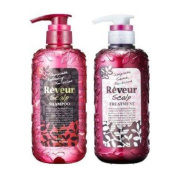 Reveur Non Silicon Scalp Shampoo and Conditioner 500ml set