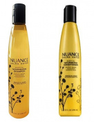 Nuance Salma Hayek Buriti Oil Shampoo and Conditioner Bundle of Two- 300ml Each