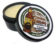 The Beerd Company All-Natural Handmade Pomade, Beer Inspired, Medium to Strong Hold, Medium Shine, Beeswax, Coconut Oil, Vitamin E, Essential Oils (with Hops), 80ml