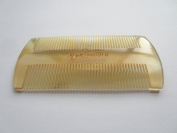Myhsmooth Sh-sm-ff Handmade Natural Little Size Sheep Horn No Static Comb-pocket Comb (Beard) for Long and Short Beards-perfect Moustache Comb