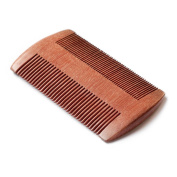 Beard Comb - Pocket Comb for Hair - No Static Handmade Red Sandalwood Comb - Free Premium Giftbox + Free Faux Leather Carrying Pouch