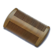 Beard Comb | Pocket Hair Comb | No Static Natural Aroma Handmade Green Sandalwood Comb | Free Premium Giftbox and Faux Leather Pouch