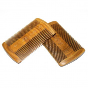 MooKiYi Hair Comb / Beard Comb | Fine & Coarse Tooth Handmade Sandalwood Beard and Moustache Brush