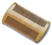 Myhsmooth Gs-sm-n3f Handmade Natural Green Sandalwood No Static Comb-pocket Comb (Beard) with Aromatic Scent for Long and Short Beards-perfect Moustache Comb