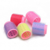 5 Pcs Pink Hair Curler Roller Salon DIY Hairdressing Styling Tool by 24/7 store