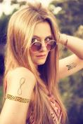 Body Flair Metallic Temporary Tattoos-18 SHEETS