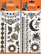 Happy Halloween Temporary Temporary Tattoos - (Bundle 2 Items) V2