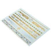 HSL Unisex Fashion Metalic Temporary Multi Pattern Tattoo Stickers- Abstract Pattern