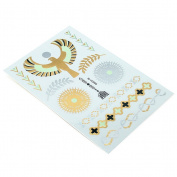 HSL Unisex Fashion Metalic Temporary Multi Pattern Tattoo Stickers-Elephant, Heart