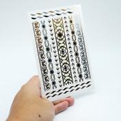 HSL Unisex Fashion Metalic Temporary Multi Pattern Tattoo Stickers-Irregular Figure